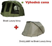Bivak Giants Fishing Luxury Bivvy 2-3 Man + duhý plášť Luxury Overwrap