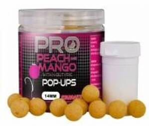 STARBAITS Boilies pop up Fluo Peach-Mango 60g