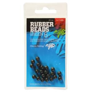 Giants Fishing Gumové guličky Rubber Beads Green 3mm, 20ks