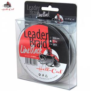 Nadväzcová šnúra Hell-Cat Leader Braid Line Black 0,90mm, 75kg, 20m