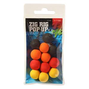 Giants Fishing Penové plávajúce boilies Zig Rig Pop-Up 14mm mix color,12ks