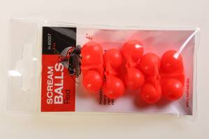 Hell-Cat Chrastítko Scream Balls Red,5ks