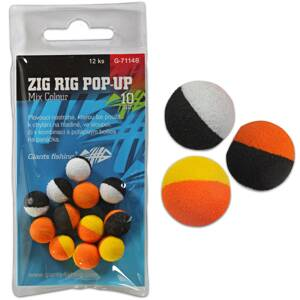 Giants Fishing Penové plávajúce boilies Zig Rig Pop-Up mix colour 14mm,12ks