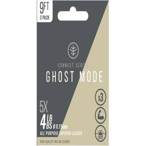 Wychwood Zužovaný nadväzec Ghost Mode Tapers 3X 9ft 4lb