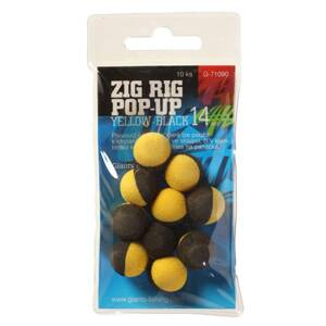 Giants Fishing Penové plávajúce boilies Zig Rig Pop-Up yelow-black 14mm,10ks