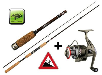 Prút Giants Fishing LXR Spin 9ft 20-40g + naviják zdarma!